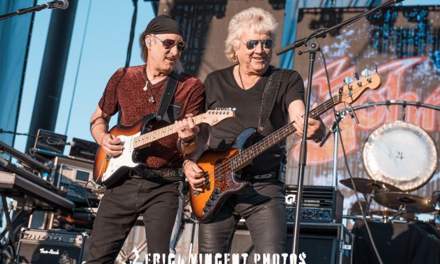 John Lodge of The Moody Blues, The Royal Affair Tour, Five Point Amphitheatre, Irvine, CA., July 27, 2019 – Photos by Erica Vincent